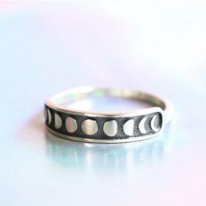 Jewelry - Sterling Silver Moon Phase Stacking Ring